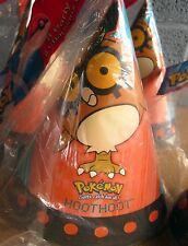 POKEMON Birthday Party hats Hoothoot anime 2000 video-game Nintendo owl set of 8