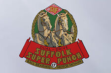 Suffolk Super Punch Vintage Mower Repro Catcher Decal