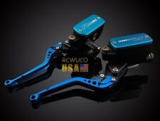 Blue Clutch BrakeLevers Master Cylinder Reservoir For Suzuki GSF1200 BANDIT01-06