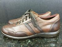 Mephisto Mens 9.5 Air-Jet Brown Leather  Sneakers Casual Shoes #7