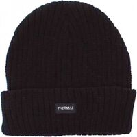 Unisex Chunky Ribbed Beanie Thermal Insulated Fully Fleece Lined Warm Winter Hat