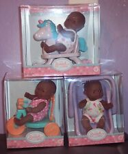"""NEW 3AA Berenguer Dolls Lots To Love Babies 5"""" Mini PlaySets CarrierTrike Horse"""