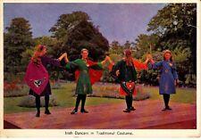Irish Dancers in Traditional Costume Ireland Vintage Postcard