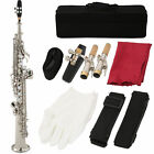 Straight Soprano Saxophone Cupronickel Nickel  Plated Sax Saxophone Bag for Party