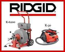 Ridgid Auto-Clean K-30 Sink Machine (34963) & Ridgid K-6200 Drum Machine (95732)