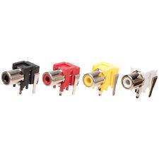 PCB Mounted White Phono Socket PCB Mounting Audio/Video Right Angle (2 Pk)
