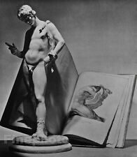1938/92 Classical SCULPTURE MALE NUDE & Book Naked Man Photo Art France By HORST