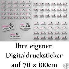 Digitaldruck Aufkleber Sticker Druck Wunschdruck