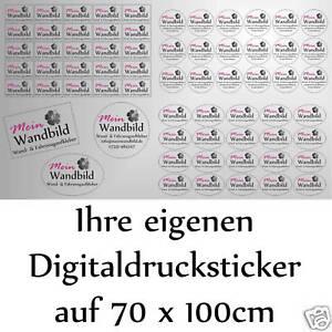 25,37 €/m² Digitaldruck Aufkleber Sticker Wunschdruck Etiketten + Wunschschnitt