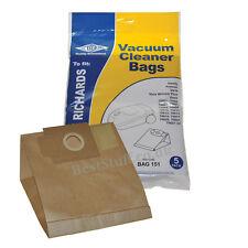 Electruepart BAG 151 5 pack Vacuum Cleaner Bags to fit Morphy Richards Vacuum...