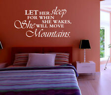 She will move mountains Wall Quotes Bedroom Wall Stickers UK 199