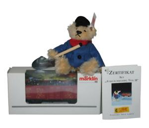 Steiff Bear 994562 And Märklin 94195 Set Limited Edition