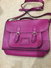 Satchel Style Shoulder bag In Deep Pink With Top Handle & Buckle Fasteners