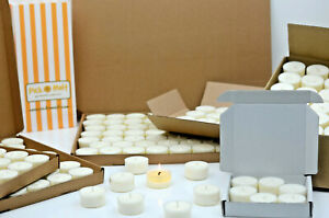 Soy Wax tealights. Clear Cup. 100% natural soy wax. Hand poured in Hampshire, UK