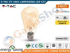 V-TAC VT-1964 LAMPADINA LED E27 4W BULB ST64 FILAMENTO - SKU 4361