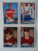 1991 Topps Traded Philadelphia Phillies Team Set of 4 Baseball Cards
