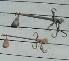 VTG Scale Hanging Cast Iron Balance Beam Arm Weight Hooks Farm Steel primitive