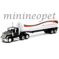 New Ray Ss-16723 Long Haul Trucker International Lonestar Oil Tanker 1/43 White