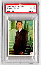 PSA TRADING CARD 1966 A&BC BATMAN BRUCE WAYNE #1 NM - MT GRADE 8