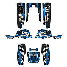 Yamaha Banshee graphics full coverage decal sticker kit  #3500 Blue