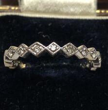 Vintage 14 Carat White Gold Diamond Half Eternity Ring