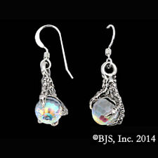 The Hobbit Official Arkenstone Earrings, Smaug Dragon Claw, Sterling Silver Lotr