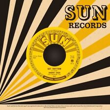 "JOHNNY CASH-GET RHYTHM I WALK LINE 7"" VINYL SINGLE SUN RECORDS NEW MINT UNPLAYED"