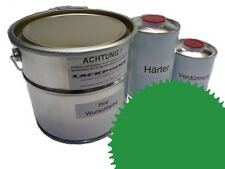 3 Liter Set 2K Revêtement de sol RAL 6024 Vert Brillant Peinture de sol Atelier