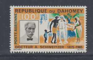 Dahomey 1966 Medicine Schweitzer  Sc  C31  Mint Lightly Hinged