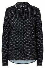 Polyester Career Polka Dot Long Sleeve Tops & Blouses for Women
