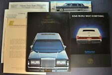 1987 Corporate Coachworks Limousine Portfolio Brochure Lincoln Town Car Original