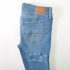 American Eagle Jegging Crop Super Stretch X Blue Jeans Womens 2R