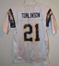 VTG Reebok On Field NFL SAN DIEGO CHARGERS LaDAINIAN TOMLINSON 21 JERSEY Youth L