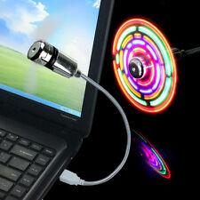 MINI LED Licht Energy Saving Lamp Fan USB Lüfter für Notebook Laptop Flexible