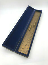 "Nautical Navigation Tool 24"" Brass Parallel Ruler in Box Antique, Kelvin Hughes"
