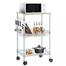 Refurbished Utility Cart Wire 3 Tier Nsf Kitchen Cart on Wheels Metal Organizer