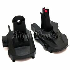 Airsoft Shooting Gear APS Athena Back Up Front Rear Sight Set Black