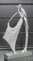 New, Silver sparkling kissing figurine/ornament couple