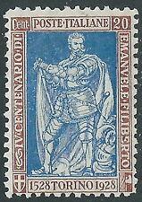 1928 REGNO FILIBERTO VITTORIA 20 CENT D. 11 MNH ** - E54