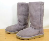 UGG Australia Classic Tall Sheepskin Suede Warm Purple Winter Boots Girls Sz 3