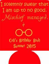 Harry Potter Birthday can coolers funny party favors 1020921158