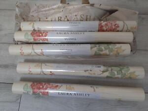 Laura Ashley Wisteria Cranberry wallpaper 6 rolls BNWT - Same Batch