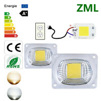 20W 30W 50W LED Smart Chip COB + Lens Reflector kit High Driver Floodlight 220V