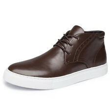 2017 Golaiman Men's Synthetic Leather Fashion Sneakers Casual Shoes Brown Size 9