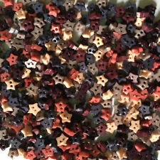 200 pcs tiny star button for crafts sewing size 4 mm mix earth tone color