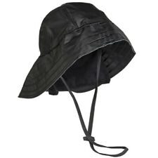 Southwestern Rain Hat Waterproof Neck Flap Fishing Storm Boonie Bucket Cap Black