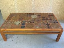 Danish Mid Century Modern Haslev Of Denmark By Tue Poulsen Tile  Coffee Table