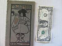 Very Rare Antique 1899 Saturday Evening Post, Benjamin Franklin, Curtis Magazine