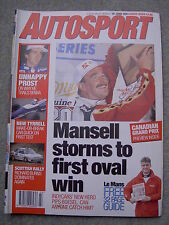 Autosport (10 June 1993) Nigel Mansell, Alain Prost, Scottish Rally, PPG Indycar