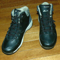 HI-TECH M-D TRACTION MENS LEATHER TRAIL SHOES HIKING BOOTS ORTHOLITE~9.5M